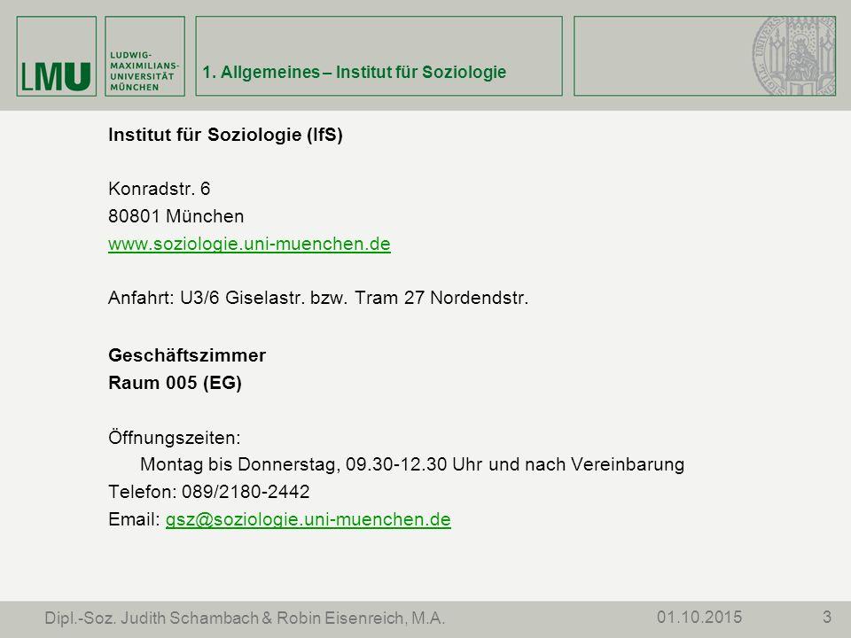 301.10.2015 Dipl.-Soz. Judith Schambach & Robin Eisenreich, M.A.