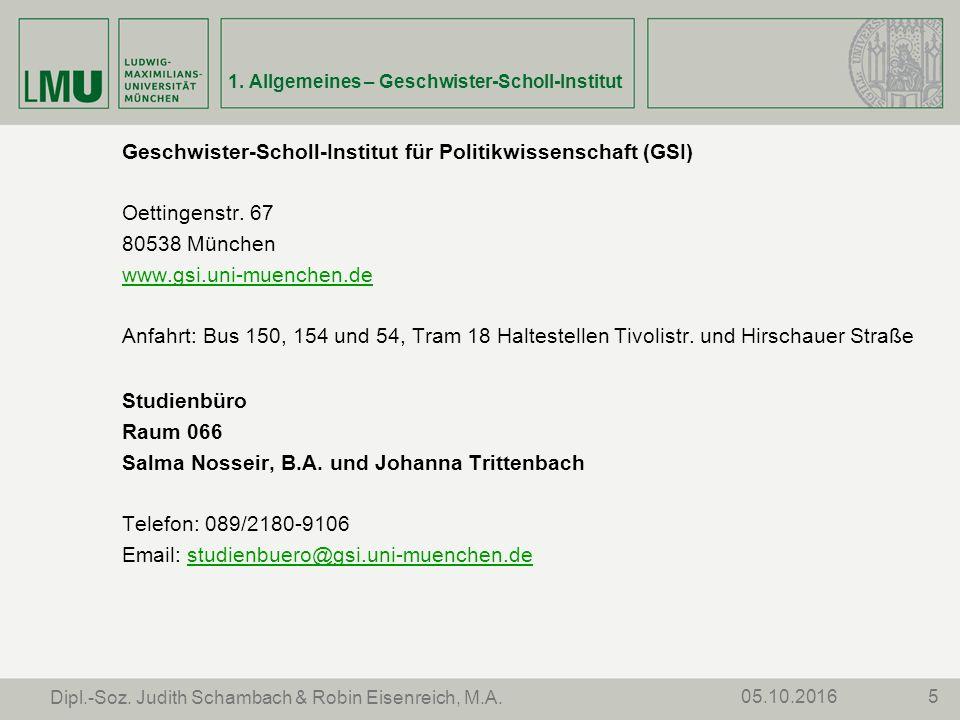 505.10.2016 Dipl.-Soz. Judith Schambach & Robin Eisenreich, M.A.