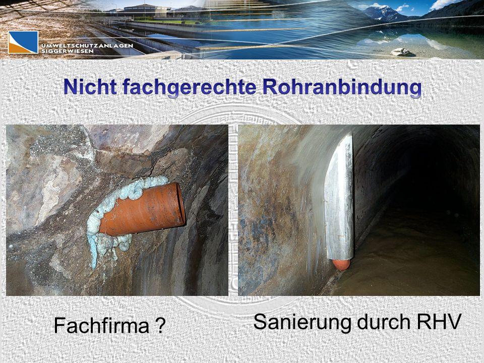Sanierung durch RHV Fachfirma