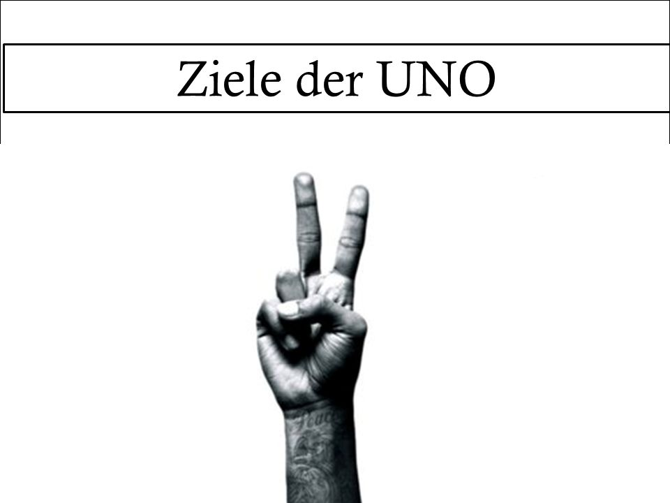 Ziele der UNO