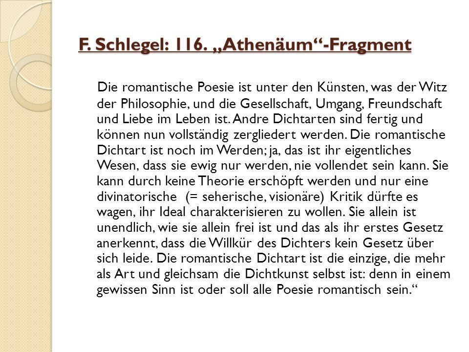 F. Schlegel: 116.