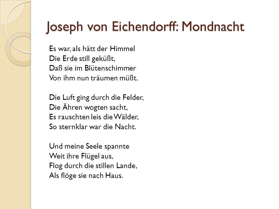 joseph eichendorff mondnacht