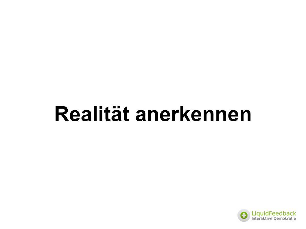 Realität anerkennen