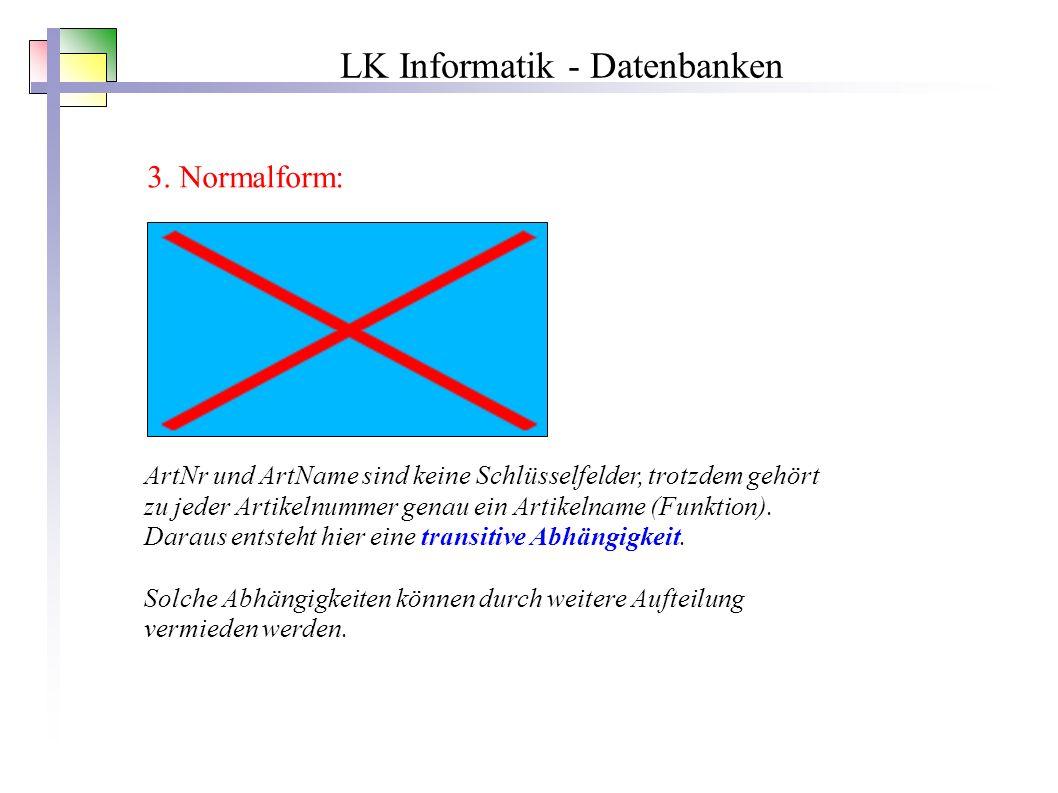 LK Informatik - Datenbanken 3.