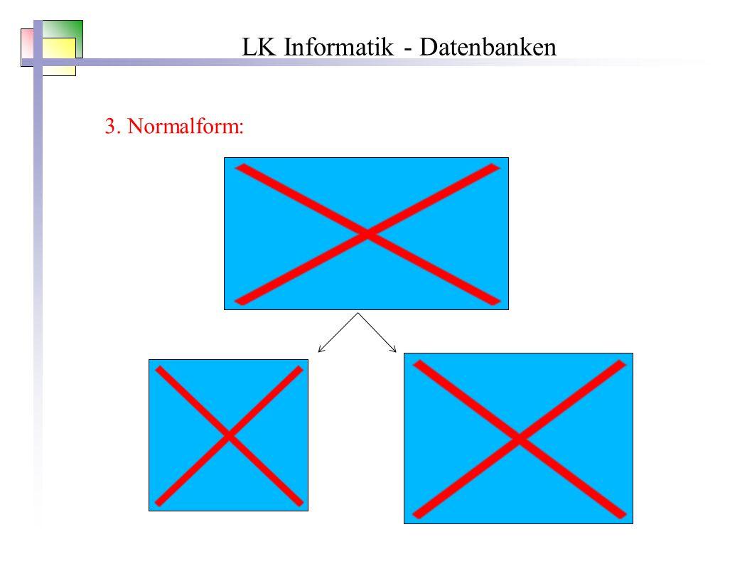 LK Informatik - Datenbanken 3. Normalform: