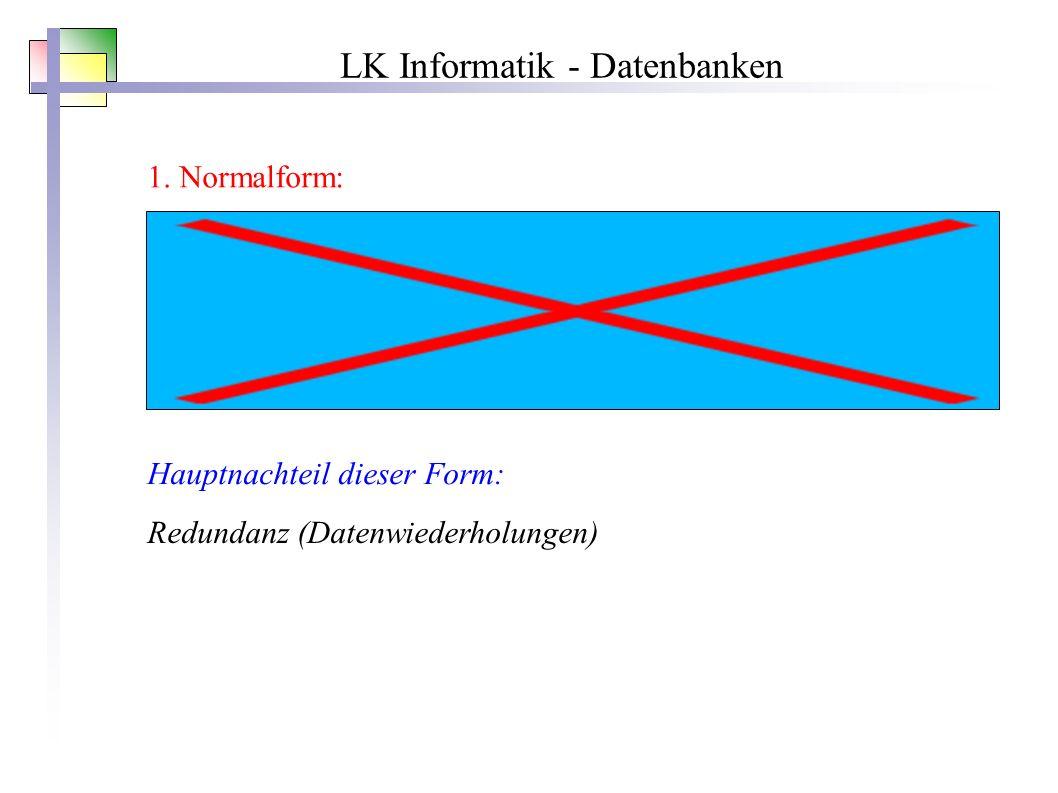 LK Informatik - Datenbanken 1.