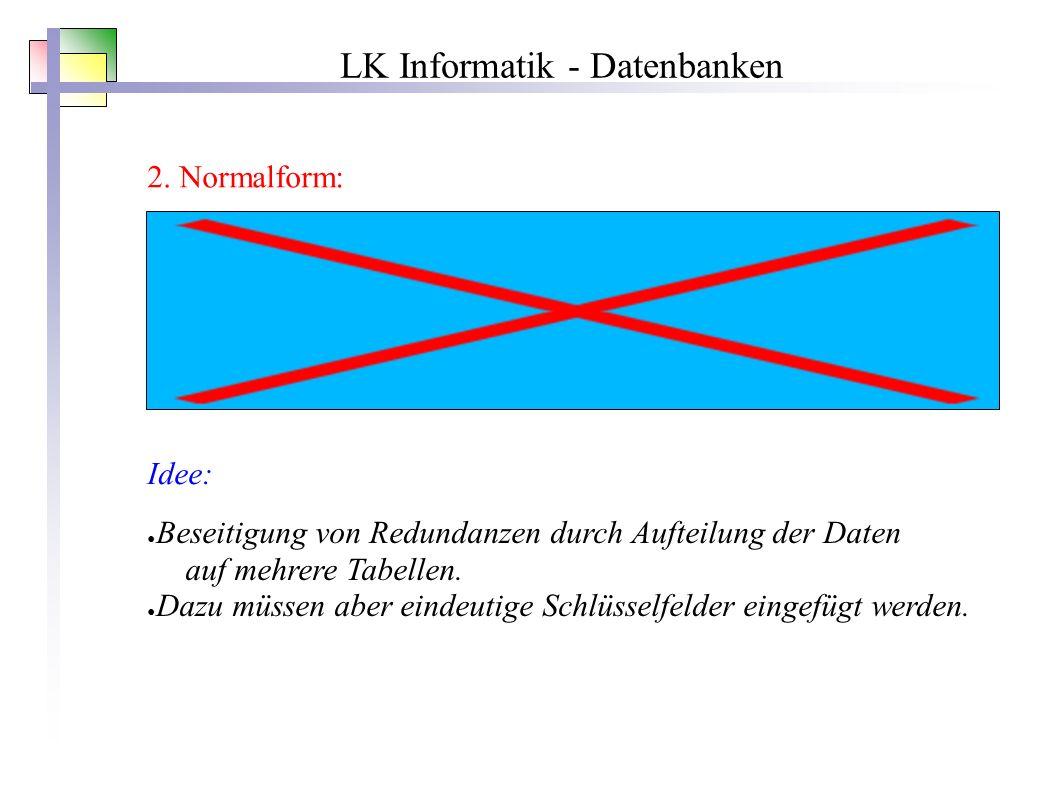 LK Informatik - Datenbanken 2.