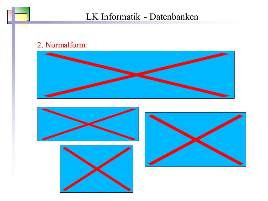 LK Informatik - Datenbanken 2. Normalform: