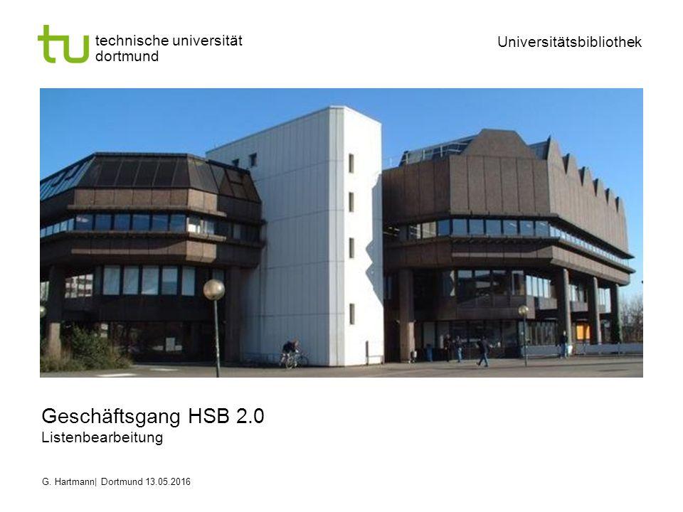 technische universität dortmund Universitätsbibliothek G.