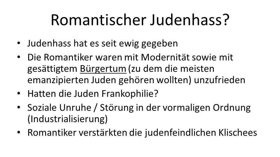 Romantischer Judenhass.