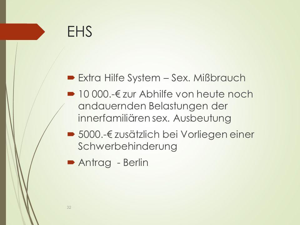 EHS  Extra Hilfe System – Sex.
