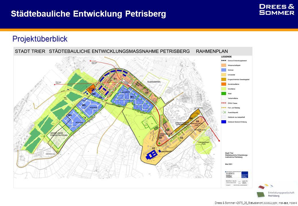 Drees & Sommer, mal-aba, Folie 4 Städtebauliche Entwicklung Petrisberg Projektüberblick