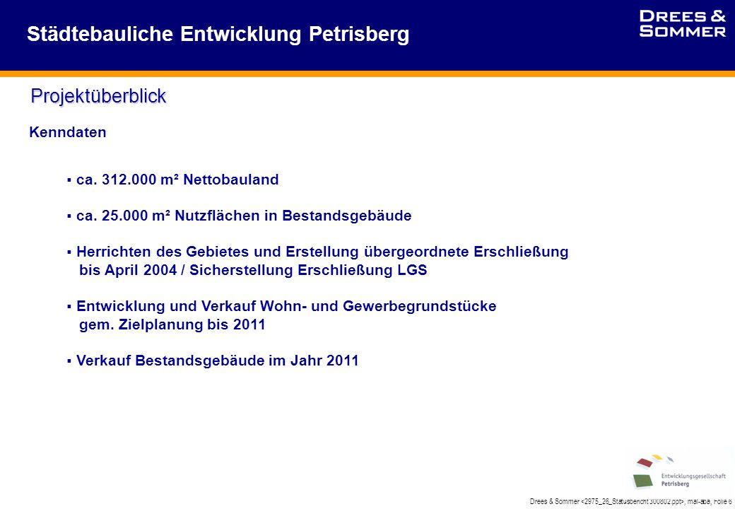 Drees & Sommer, mal-aba, Folie 6 Städtebauliche Entwicklung Petrisberg Projektüberblick Kenndaten  ca.
