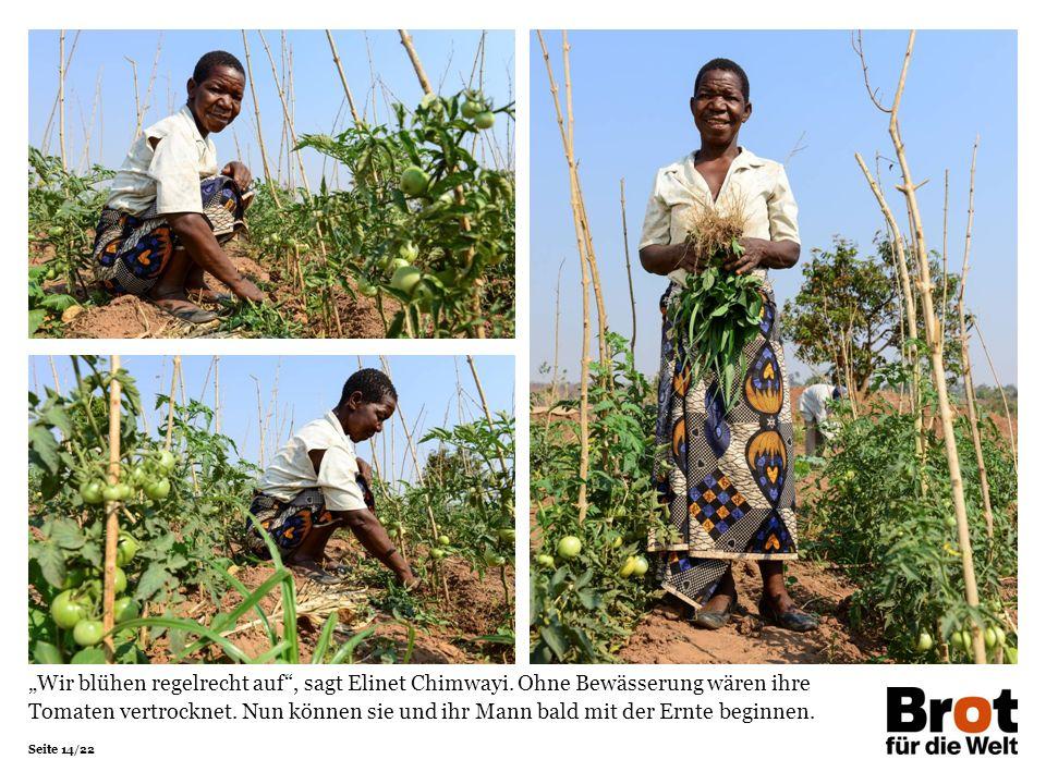 """Seite 14/22 """"Wir blühen regelrecht auf , sagt Elinet Chimwayi."""
