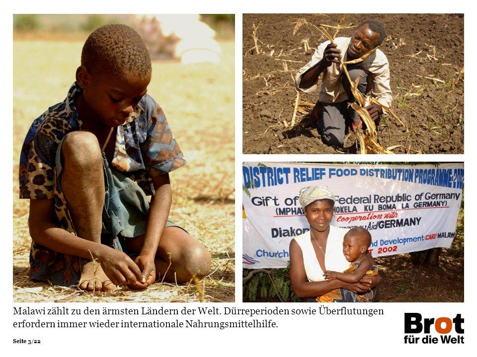 Seite 3/22 Malawi zählt zu den ärmsten Ländern der Welt.