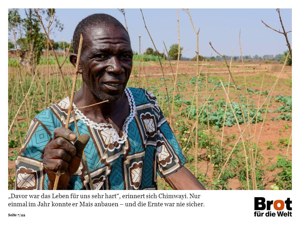 """Seite 7/22 """"Davor war das Leben für uns sehr hart , erinnert sich Chimwayi."""