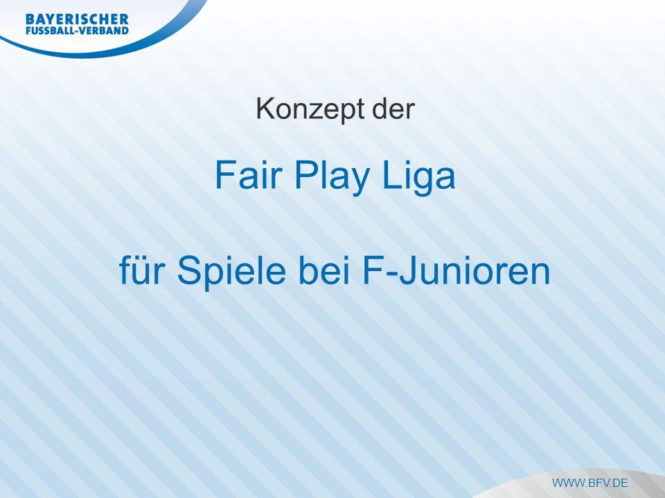 WWW.BFV.DE Konzept der Fair Play Liga für Spiele bei F-Junioren