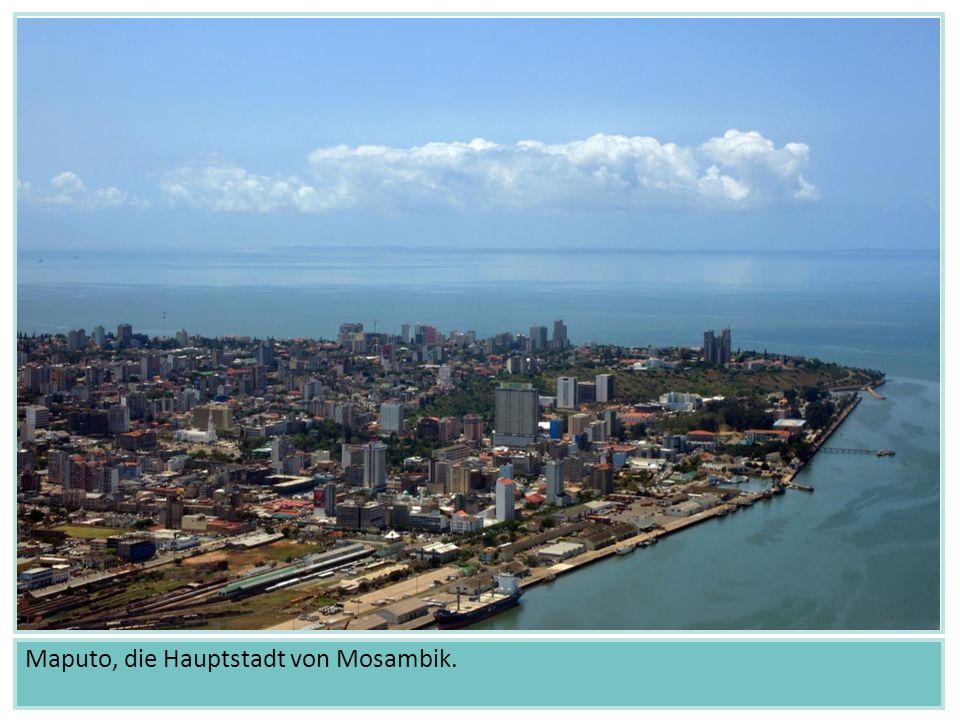 Maputo, die Hauptstadt von Mosambik.