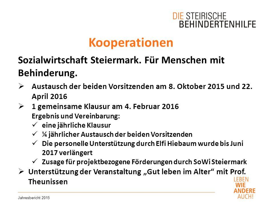 Kooperationen Jahresbericht 2015 Sozialwirtschaft Steiermark.