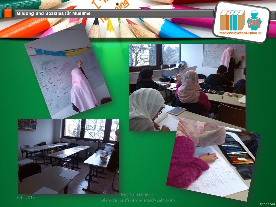 Feb. 2015 Medienbibliothek- islam.de_Leitfaden_Arabisch-Lektionen