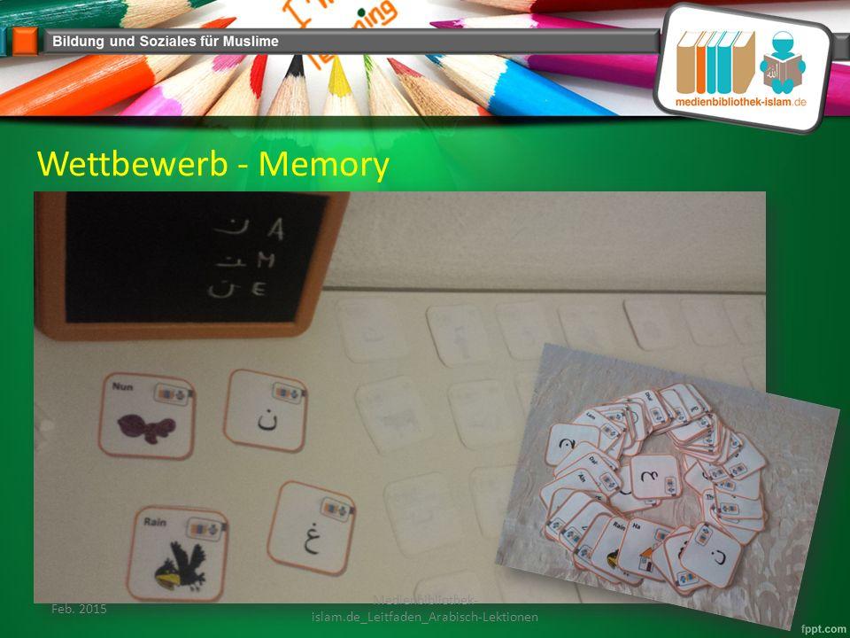 Wettbewerb - Memory Feb. 2015 Medienbibliothek- islam.de_Leitfaden_Arabisch-Lektionen