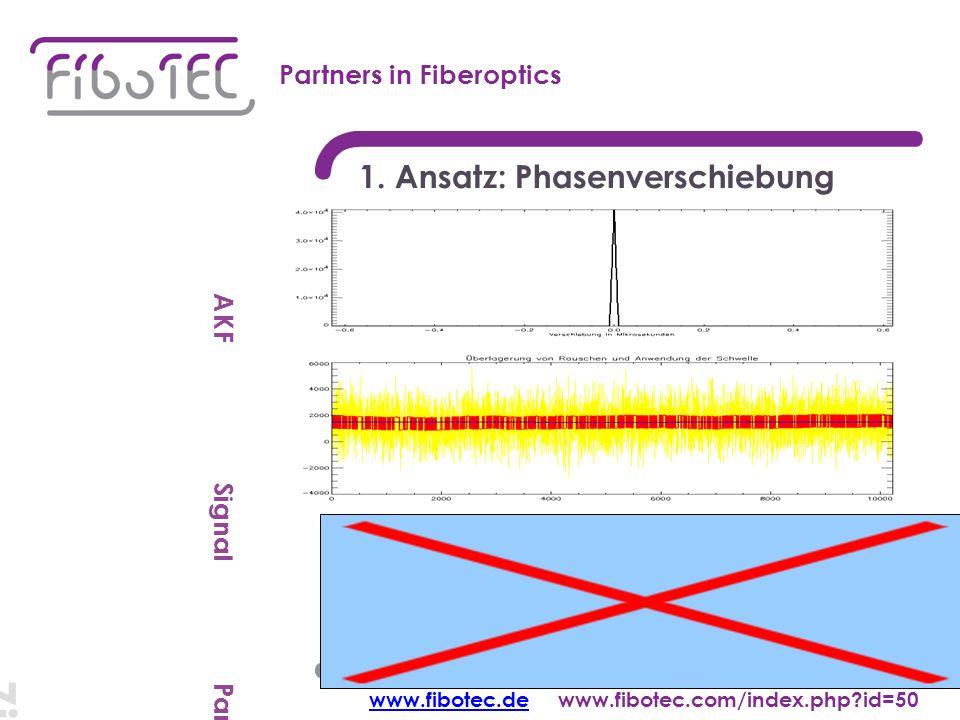 Ziel: cm-Auflösung Partners in Fiberoptics 1.