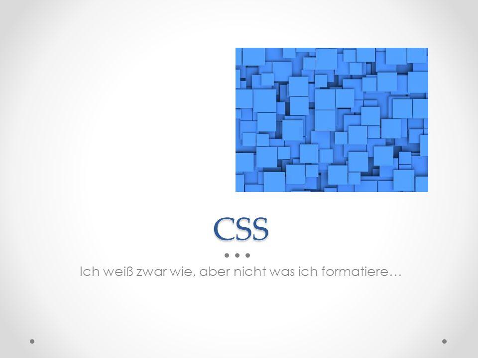 CSS Ich weiß zwar wie, aber nicht was ich formatiere…