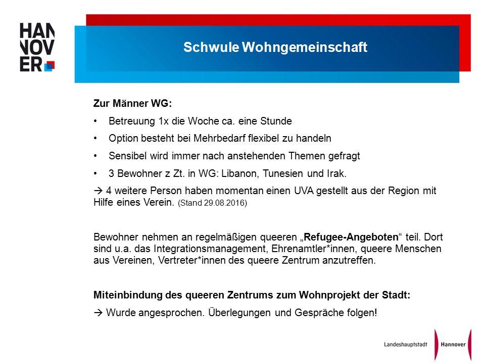 Schwule Wohngemeinschaft Zur Männer WG: Betreuung 1x die Woche ca.