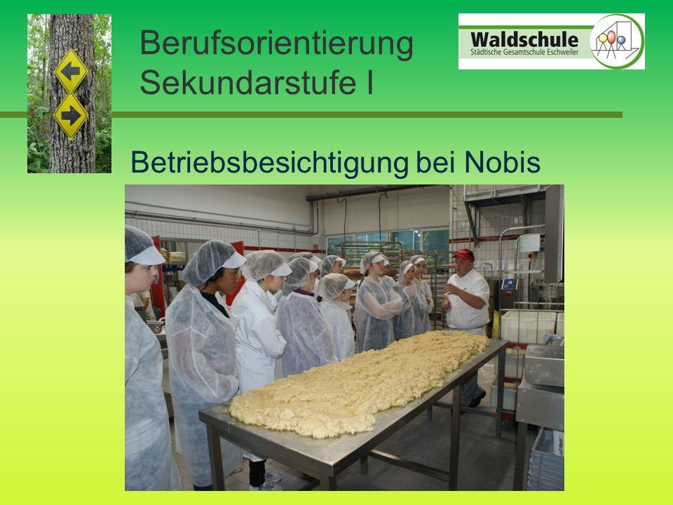 Berufsorientierung Sekundarstufe I Betriebsbesichtigung bei Nobis