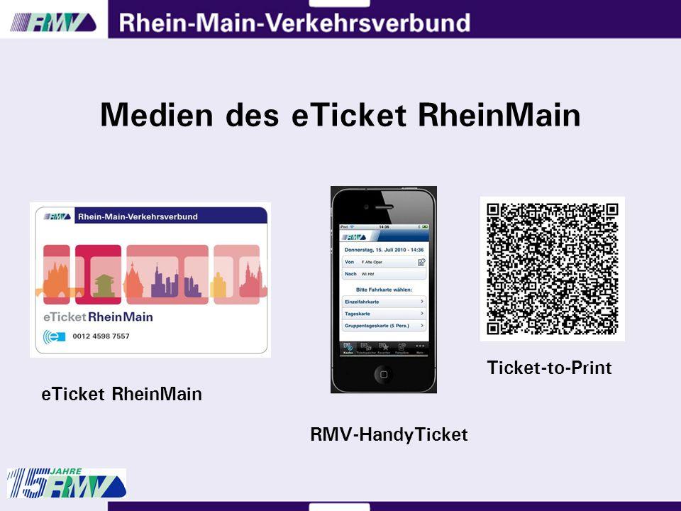 Medien des eTicket RheinMain eTicket RheinMain Ticket-to-Print RMV-HandyTicket