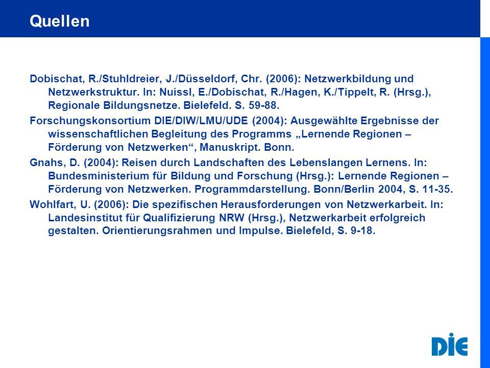 Quellen Dobischat, R./Stuhldreier, J./Düsseldorf, Chr.