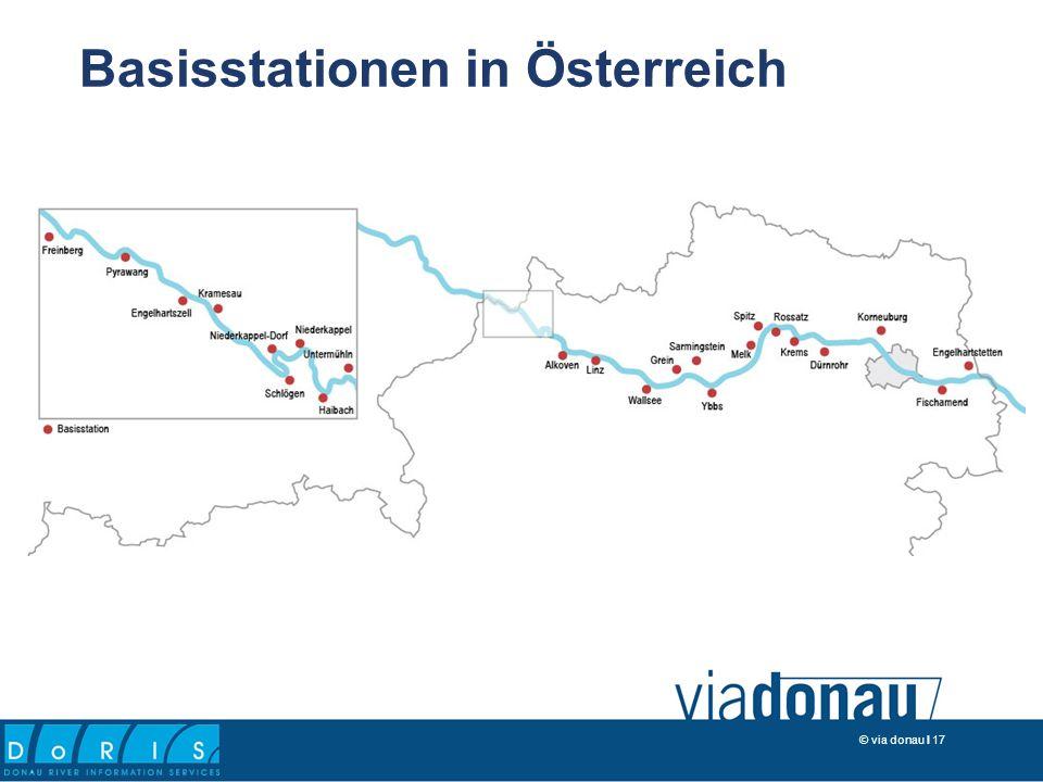 © via donau I 17 Basisstationen in Österreich