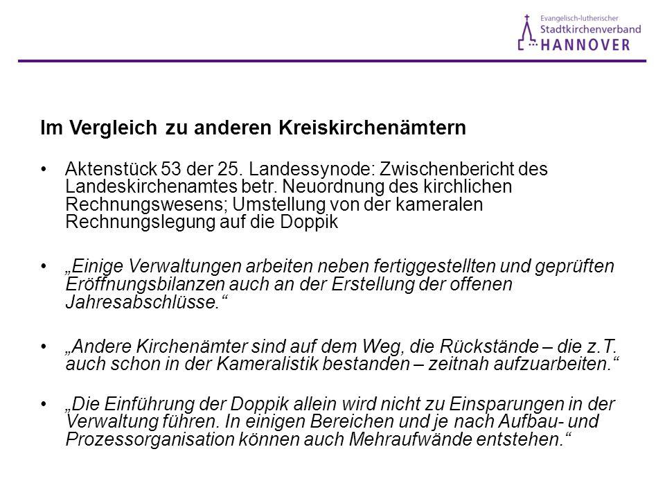 Im Vergleich zu anderen Kreiskirchenämtern Aktenstück 53 der 25.
