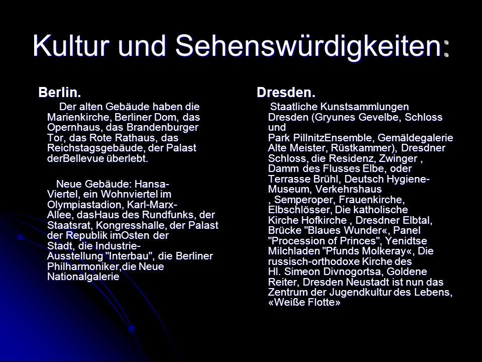 Kultur und Sehenswürdigkeiten: Berlin. Berlin.