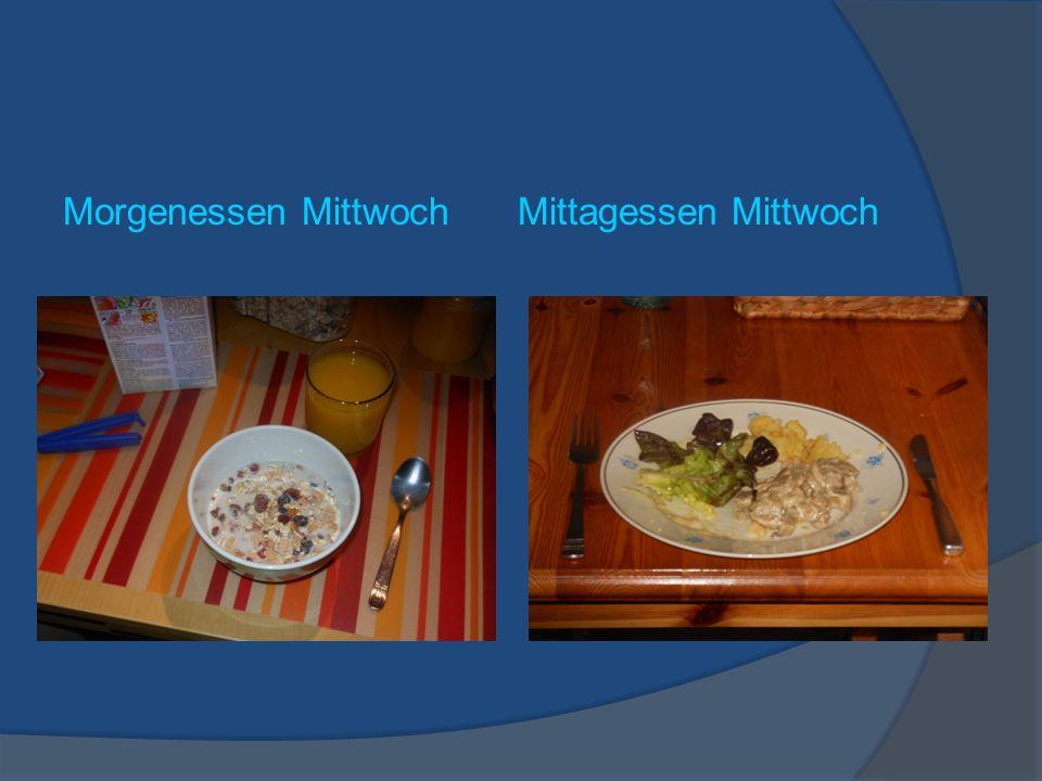 Morgenessen Mittwoch Mittagessen Mittwoch