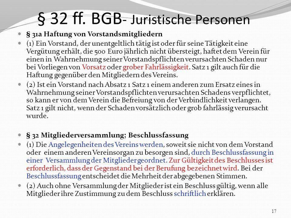 § 32 ff.