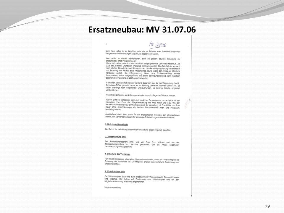 Ersatzneubau: MV 31.07.06 29
