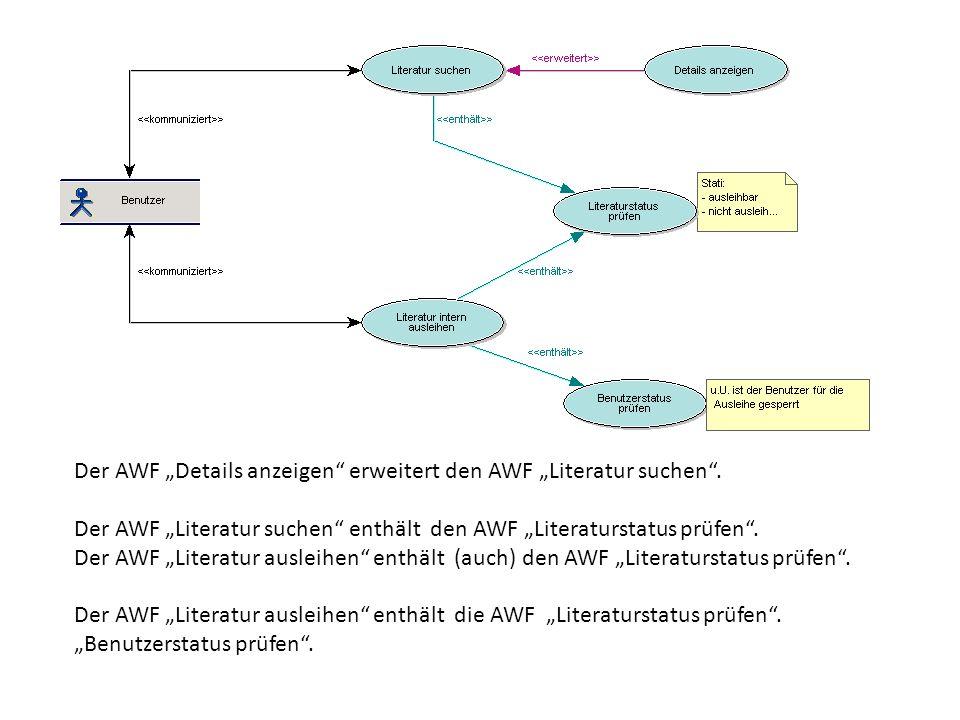 """Der AWF """"Details anzeigen erweitert den AWF """"Literatur suchen ."""