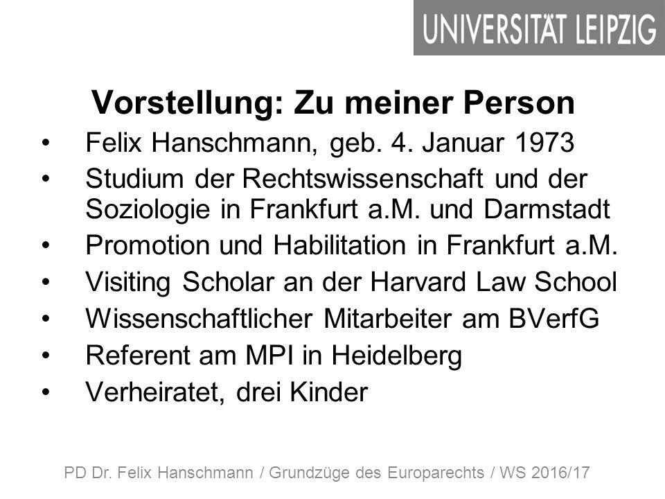Vorstellung: Zu meiner Person Felix Hanschmann, geb.