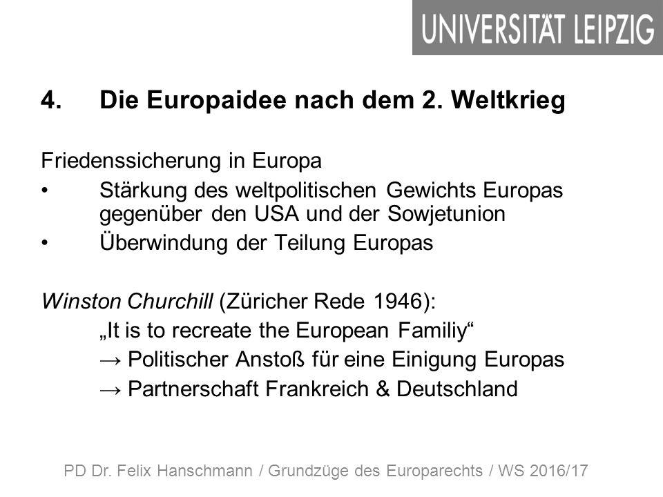 4.Die Europaidee nach dem 2.
