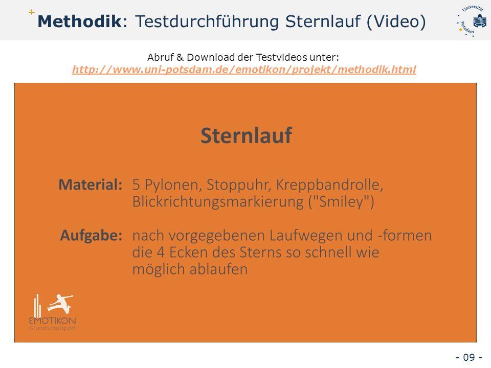 Methodik: Testdurchführung Sternlauf (Video) - 09 - Abruf & Download der Testvideos unter: http://www.uni-potsdam.de/emotikon/projekt/methodik.html