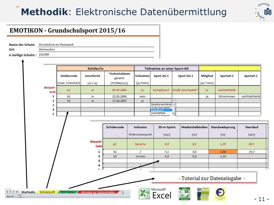 Methodik: Elektronische Datenübermittlung - 11 -