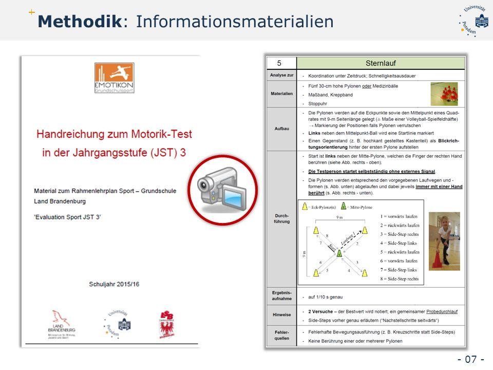 Methodik: Informationsmaterialien - 07 -