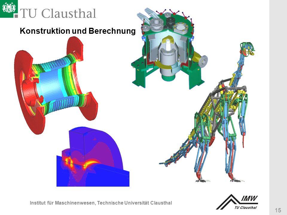 15 Institut für Maschinenwesen, Technische Universität Clausthal Konstruktion und Berechnung