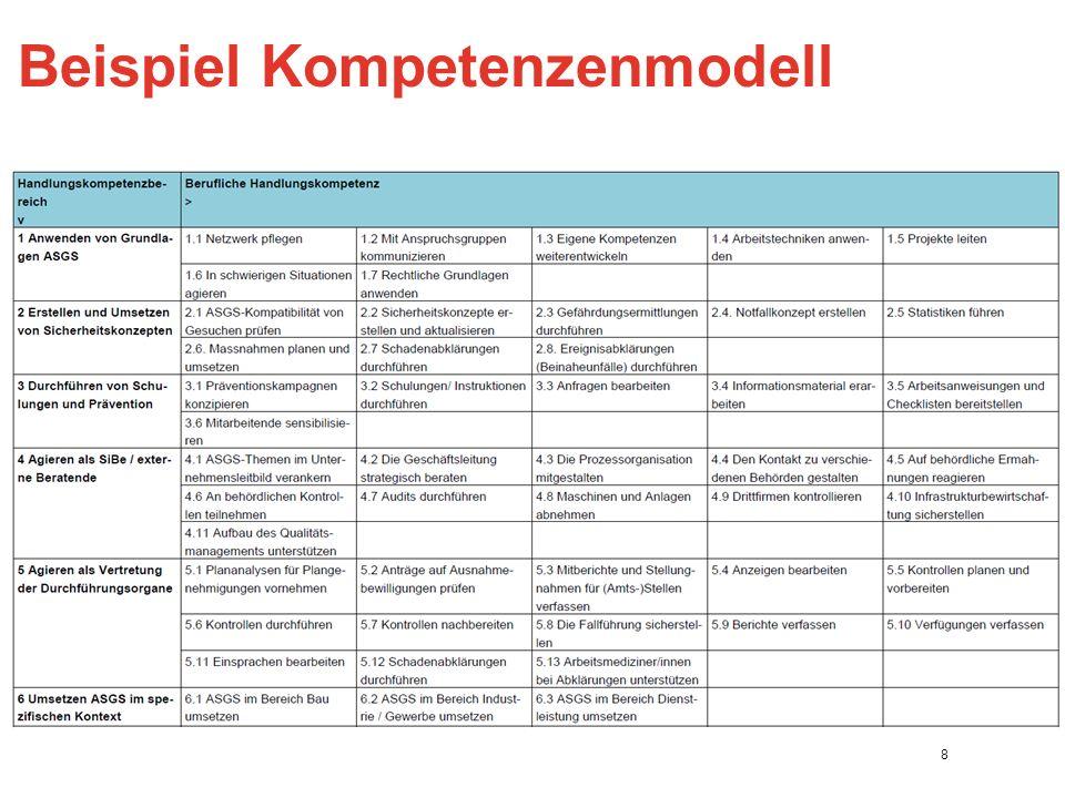 Beispiel Kompetenzenmodell 8