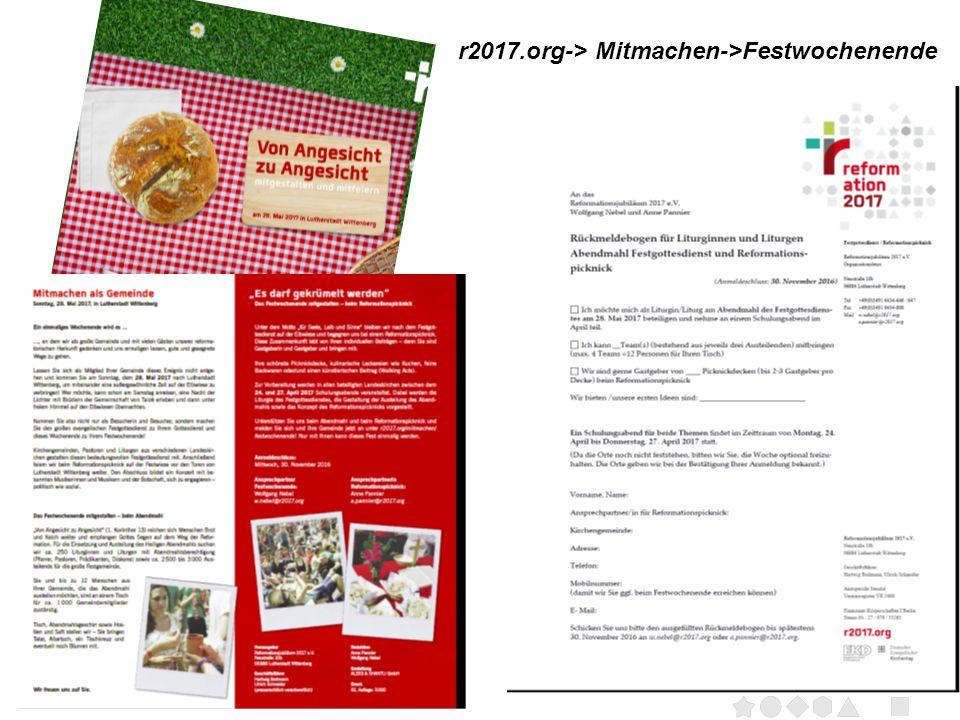 Seite 16 r2017.org-> Mitmachen->Festwochenende
