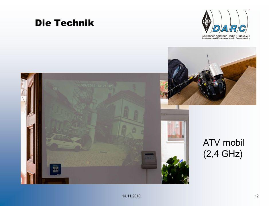 14.11.201612 Die Technik ATV mobil (2,4 GHz)