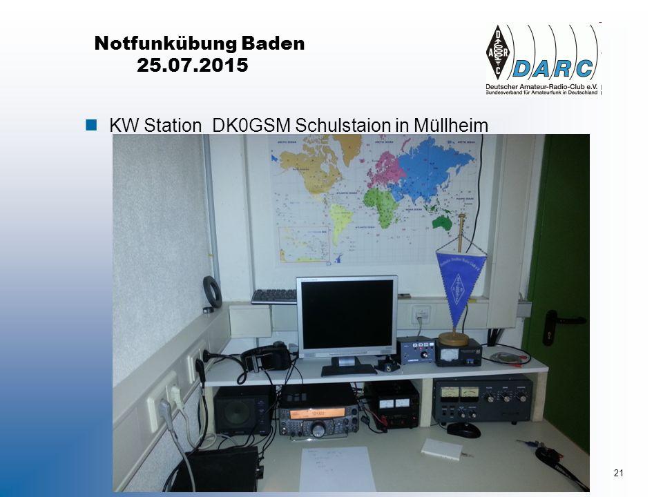 Notfunkübung Baden 25.07.2015 nKW Station DK0GSM Schulstaion in Müllheim 14.11.201621