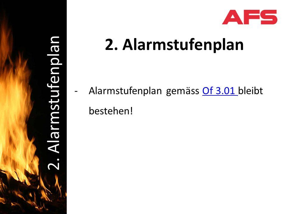 Schadenbekämpfung 2. Alarmstufenplan -Alarmstufenplan gemäss Of 3.01 bleibt bestehen!Of 3.01