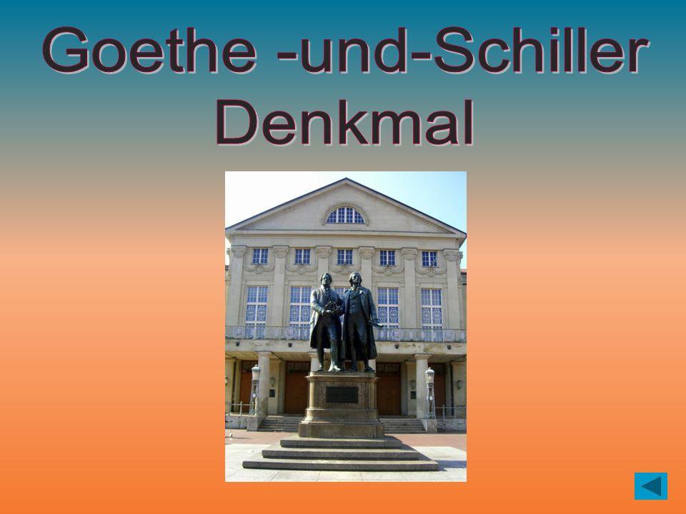 Dieses Denkmal steht in Weimar. richtig